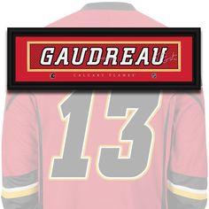 Calgary Flames - Johnny Gaudreau - NHL Jersey Name Print