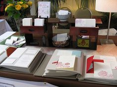 napa valley table display #paper #stationery