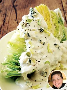 Lovely Wedge Salad w Blue Chesse Dressing via Alex Guarnaschelli: No-Cook Salad Recipes to Eat All Summer