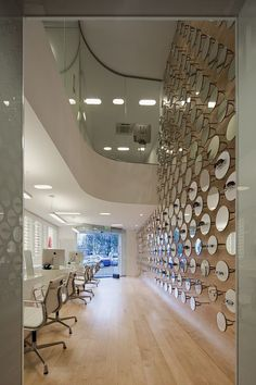 glasses gafas óptica Glasses Shop in Beja / Jorge Sousa Santos like the chairs and flooring Commercial Interior Design, Shop Interior Design, Commercial Interiors, Interior Design Inspiration, Design Shop, Design Design, Detroit, Glasses Shop, Clinic Design