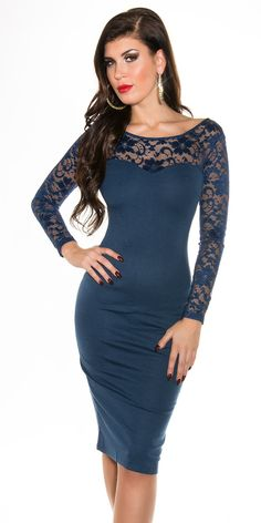 Navy Chic Lace Pencil #Dress by #Koucla. Flaunt your Curves in this Chic #LongSleeve Navy Chic Lace #PencilDress by Koucla from #Fashionhub. Add Heels, Accessories and a Clutch to complete your look. http://fashionhub.co.za/navy-chic-lace-koucla-pencil-dress.html #lacesleevedress #shortdress #fashion #stylishdresses #eveningwear #fashionhubdresses #koucladresses #sexyshortdresses