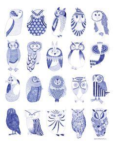 Owlstreet Art Print by Karin Lindeskov Andersen | Society6