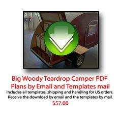 TEARDROP PLANS - Big Woody Teardrop Campers Teardrop Camping, Expedition Trailer, Teardrop Trailer, Camping Tips, Happy Campers, Woody, Glamping, Trailers, Templates