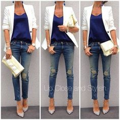 Blue And White Perfect Combination And Love Silk Shirt