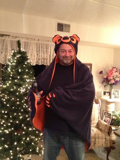 A personal favorite from my Etsy shop https://www.etsy.com/listing/114889290/chicago-bears-inspired-bear-hug-fan-wrap