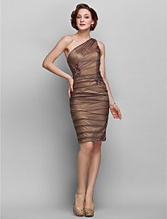 Sheath/Column One Shoulder Knee-length Chiffon Mother of the... – USD $ 129.99