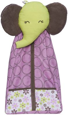 Carter's Elephant Patches Diaper Stacker #DiaperscomNursery