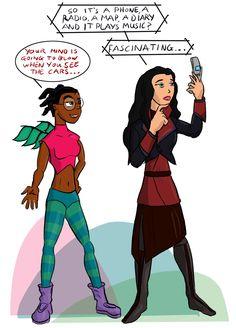 W.I.T.C.H. / Avatar: Taranee and Asami by MarcusSmiter on deviantART