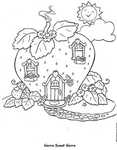 coloring page Strawberry Shortcake Kids-n-Fun
