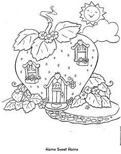 coloring page Strawberry Shortcake Kids-n-Fun