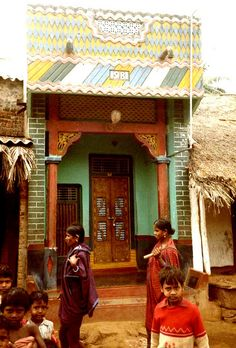 India, Orissa. The houses of this rural village have beautifully decorated exteriors., via Flickr