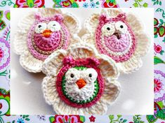 Instant Download Lovely Flowers With Owls by wonderfulhands, $4.80