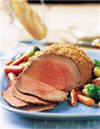 Remove the Shallots and we're good! ^_^  Three Mustard Beef Round Tip with Roasted Baby Carrots & Brussel Sprouts