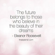 Wisdom, thank you Eleanor Roosevelt! #inspire