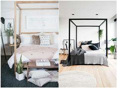 Letti A Baldacchino Maison Du Monde : Lit à baldaquin en pin blanc cassé ma chambre cosy