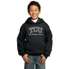 Texas Christian Horned Frogs NCAA Black Youth Hoodie (Large)