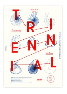 Typography poster // TRIENNIAL // Source: imrubenfigueroa,