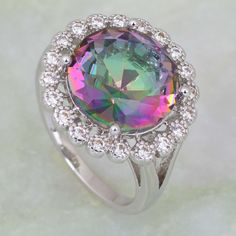 Find More Rings Information about Permanent Light High quality suppliers Pink Rainbow Mystic Topaz 925 sterling silver jewelry ring Fashion jewelry R238,High Quality jewelry men ring,China ring jewelry case Suppliers, Cheap jewelry slogan from Dana Jewelry Co., Ltd. on Aliexpress.com