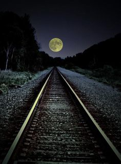 moon at the end of the tracks