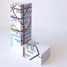 Large London Underground Map 3D Letter, http://hative.com/cool-diy-cardboard-letters/