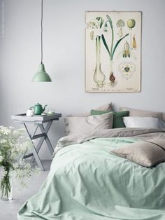 5 Exquisite Simple Ideas: Minimalist Bedroom Ideas Dark minimalist home living room window.Minimalist Home Living Room Window minimalist bedroom small boho.Minimalist Home With Children Couple. Pastel Bedroom, Bedroom Green, Home Bedroom, Bedroom Mint, Bedroom Ideas, Bedroom Furniture, Furniture Ideas, Bedroom Pictures, Ikea Bedroom