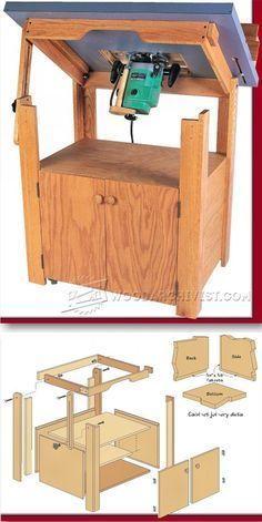 Tilt Top Router Table Plans - Router Tips, Jigs and Fixtures | WoodArchivist.com