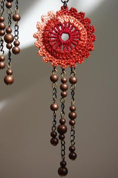 crochet earring...great inspiration!