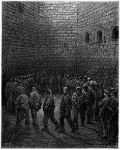 Newgate Prison exercise yard by Gustave Dore, 1872.
