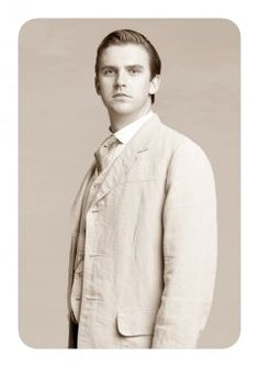 Matthew Crawley, cousin of Robert. He inherits the Downton Abbey estate and title after Robert's cousins die in the Titanic disaster.