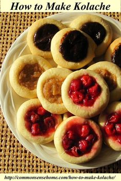 How to Make Kolache - Common Sense Homesteading How to Make Kolache, a lightly sweetened Czech pastry Strudel, Pastry Recipes, Cooking Recipes, Dessert Recipes, Croissants, Scones, Czech Recipes, Slovak Recipes, Polish Recipes