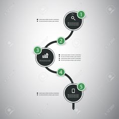 Infographic Concept - Flow Chart Design And Timeline Royalty Free Cliparts…