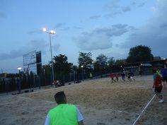 Imagen del Torneo de Balonmano-Playa que se ha disputado en estos días en la Piscina Municipal.