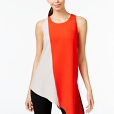 Alfani Charcoal Grey & Red Dress Brand new with tags still attached. Such a great mix of colors...with a side low drop. Has a tiny snag line, hardly noticeable. If you make an offer, please keep it reasonable. Alfani Dresses Asymmetrical