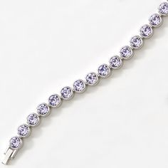 Lavender Ice Bracelet sparkle. Hasn't left Trendy Latin's arm since she received the package.