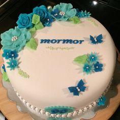 Bilderesultat for blå blomster kake