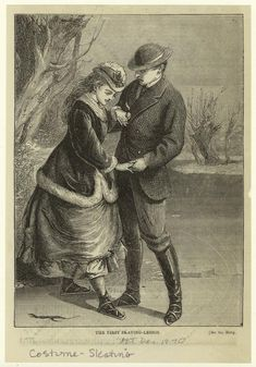 The first skating-lesson. (1870)