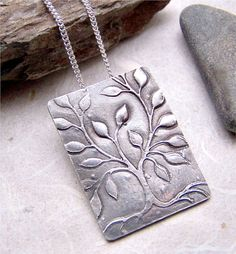 Tree Of Life Necklace, Silver Tree Necklace, Artisan Silver Tree Of Life