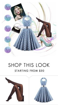 """""""50s outfit"""" by skylord-03 ❤ liked on Polyvore featuring SPANX, outfit, black, Blue, 50s and OC"""