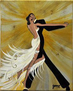 Ballroom Dance Painting by Helen Gerro