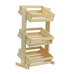 Crates and Pallet Large Tiered Wood Crate Stand Unfinished-69018 - The Home Depot