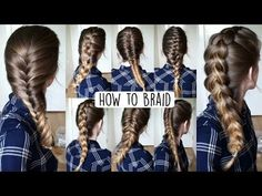 How to Braid Your Own Hair For Beginners | How to Braid | Braidsandstyles12 - YouTube