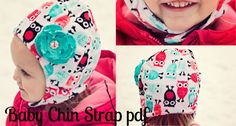 Baby hat with chin strap ~ free pdf pattern + video tutorial