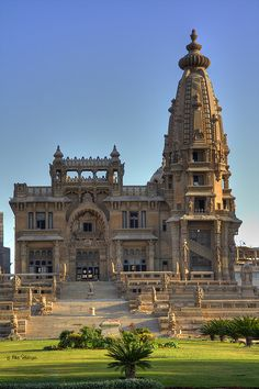 Baron Empain Palace, Cairo, Egypt - The palace was built towards the end of the nineteenth century by the millionaire Belgian industrialist, amateur Egyptologist and founder of Heliopolis Edouard Louis Joseph, Baron Empain.