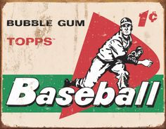 TOPPS - 1958 Baseball Cards Tin Sign at AllPosters.com