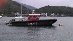 HAWC 11M Hydrofoil Assisted Water Craft. Hydrofoil Catamaran. 45kt full speed 2. 250hp Suzuki Outobards