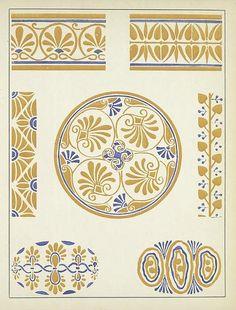 Heaveninawildflower — More floral Art Nouveau designs taken from. Pattern Art, Pattern Design, Design Art Nouveau, Web Gallery Of Art, Arts And Crafts Movement, Border Design, Surface Design, Textures Patterns, Vignettes