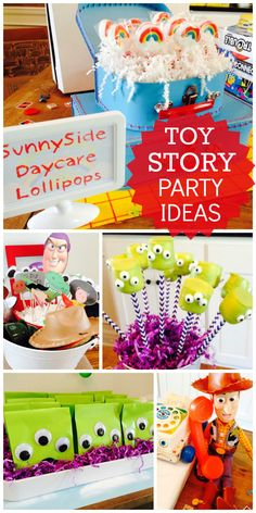What a fun Toy Story boy birthday party with Woody, Buzz and the whole gang… Toy Story Baby, Toy Story Theme, Toy Story Birthday, Third Birthday, 4th Birthday Parties, Birthday Fun, Toy Story Food, Birthday Ideas, Dinosaur Birthday