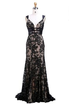queen anne black dress