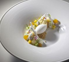 Tres leche cake, Coconut Sorbet, Passion Fruit Jelly, Coco… | Flickr