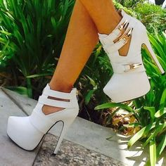 #Sexy Platform #Booties ... #shoes #heels #fashion